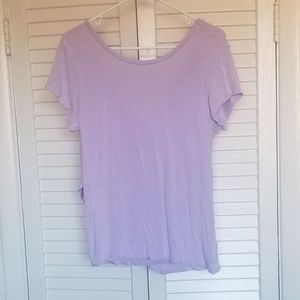 TAHARI LAVENDER DRAPPED BACK WOMENS TOP
